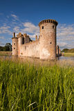 Caerlaverock城堡、邓弗里斯和盖洛韦,苏格兰 库存照片