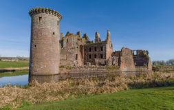 Caerlaverock城堡在苏格兰 免版税库存图片