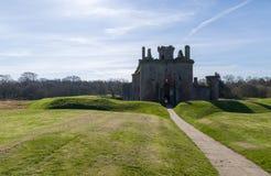 Caerlaverock城堡在苏格兰 库存照片