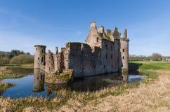 Caerlaverock城堡在苏格兰 免版税图库摄影