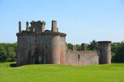 Caerlaverock城堡外部  免版税图库摄影