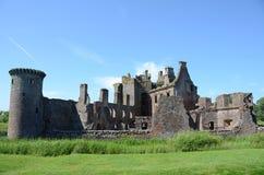 Caerlaverock城堡废墟  免版税库存图片