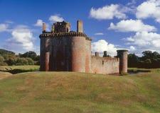 caerlaverock城堡末端北部苏格兰 免版税库存图片