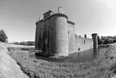 Caerlaverock城堡看法  免版税图库摄影