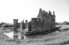 Caerlaverock城堡背面图  免版税库存图片
