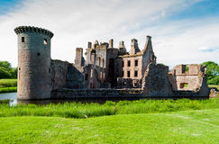 caerlaverock城堡苏格兰 免版税库存照片