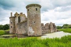 Caerlaverock城堡,邓弗里斯,苏格兰 库存照片