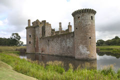 caerlaverock城堡 免版税图库摄影
