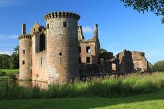 Caerlaverock城堡 免版税库存照片