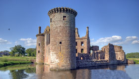 Caerlaverock castle. Taken in scotland Stock Image