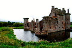 Caerlaverock Castle Stock Photo