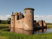 Caerlaverock Castle. In Scotland from the south-west Royalty Free Stock Photos