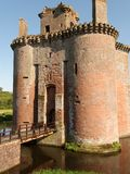 Caerlaverock Castle. In Scotland ahowing moat and entrance Stock Photos