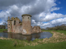 Caerlaverock Castle, Dumfries and Galloway, Scotla. Caerlaverock Castle, Solway Coast, Dumfries and galloway, Scotland Stock Image