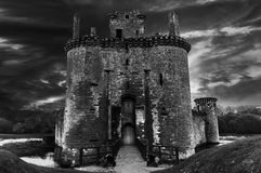 Caerlaverock Castle. Dumfries - Scotland with stormy sky Royalty Free Stock Image