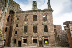 Caerlaverock Castle interior, Dumfries, Scotland Stock Image