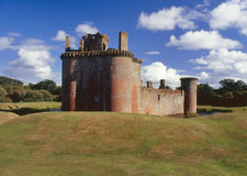 Caerlaverock castle, north end, Scotland Royalty Free Stock Images