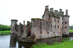 Caerlaverock castle,  Scotland Stock Images