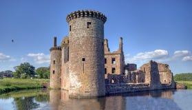 Caerlaverock Schloss stockbild