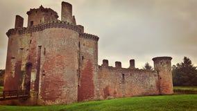 Caerlaverock slott fotografering för bildbyråer