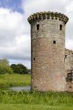 caerlaverock slott omgav med vallgrav scotland Royaltyfri Fotografi