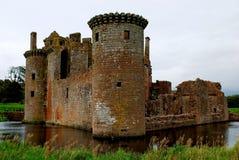 Caerlaverockkasteel, Schotland Royalty-vrije Stock Foto's