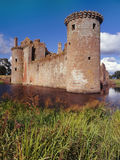 caerlaverockslott scotland Arkivbilder