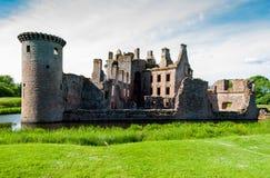 caerlaverockslott scotland Royaltyfria Foton