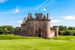 caerlaverockslott scotland Royaltyfria Bilder