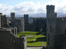 Caernafon castle, snowdonia, Wales, UK Stock Photography