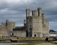 Caernarfon城堡,威尔士,英国 免版税库存照片