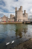 Caernarfon castle Stock Photography