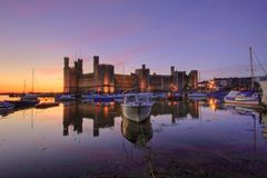 Caernarfon castle Royalty Free Stock Image