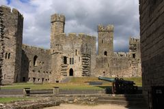 Caernarfon castle Royalty Free Stock Photo