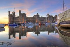 Caernarfon castle Stock Photography