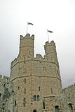 Caernarfon Castle in North Wales. UK Royalty Free Stock Photo