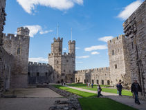 Caernarfon Castle, North Wales Royalty Free Stock Photos