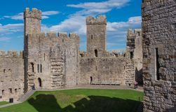Caernarfon Castle, North Wales Stock Photography