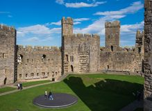 Caernarfon Castle, North Wales Stock Photo