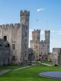 Caernarfon Castle, North Wales Stock Photography