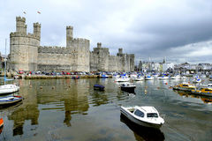 Caernarfon Castle. Royalty Free Stock Photos