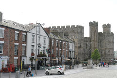 Caernarfon Castle. In north-west Wales Stock Photo