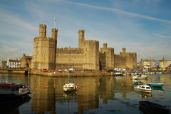 Caernarfon castle in north-west Wales, UK. Stock Photos