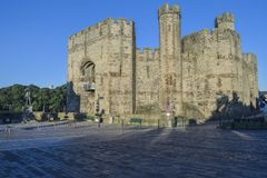 Caernarfon Castle from Castle Square. royalty free stock photography