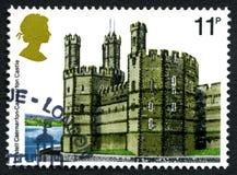 Caernarfon Castle UK Postage Stamp Stock Photos