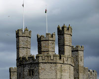 Caernarfon Castle, Wales, United Kingdom. Caernarfon is architecturally one of the most impressive of all of the castles in Wales. Caernarfon is located at the Royalty Free Stock Photo