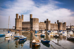 Caernarfon Castle in Wales, United Kingdom Stock Photos