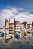 Caernarfon Castle in Wales, United Kingdom Royalty Free Stock Images