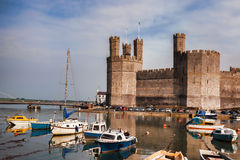 Caernarfon Castle in Wales, United Kingdom. Series of Walesh castles Royalty Free Stock Photography