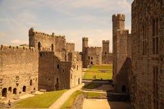 Caernarfon-Schloss Lizenzfreies Stockfoto